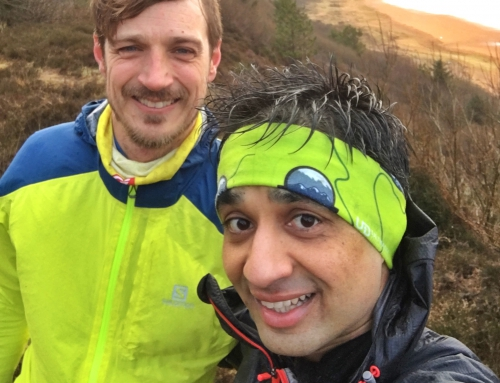 Trail run with Claus